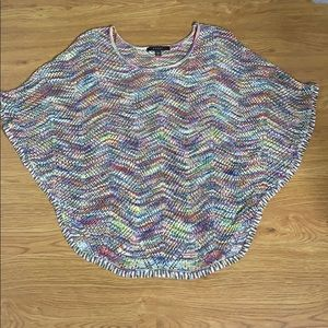 Fever Multi-Colored Crochet Blouse Size Large
